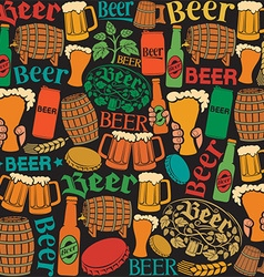 Beer pattern design vector image