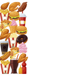 fast food poster vector image vector image