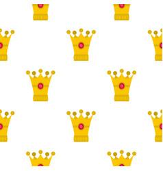 medieval crown pattern flat vector image vector image