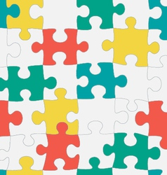 Puzzle seamless pattern vector