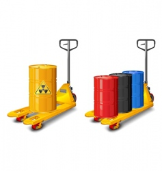 truck with radioactive waste vector image