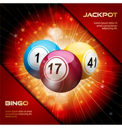bingo explosion with sample text vector image vector image