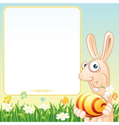 easter poster vector image vector image