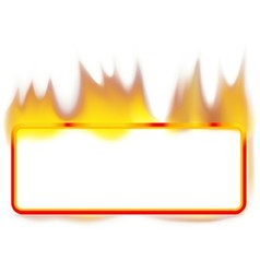 Fire Banner vector image