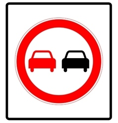 No overtaking road traffic sign icon in flat style vector image