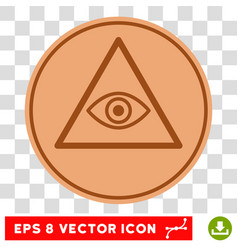 pyramid eye eps icon vector image