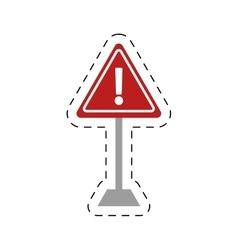 Traffic prohibited warning alert triangle vector