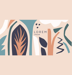 A composition with abstract elements in popular vector