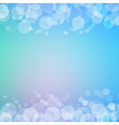 Abstract bokeh sparkles frame with blurred vector image