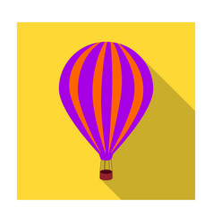 air balloon for walking transport works on warm vector image