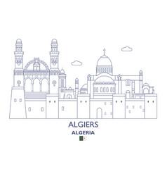 Algiers city skyline vector