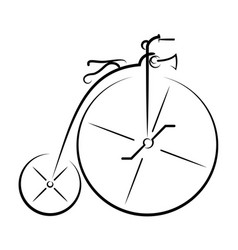 ancient bicycle 0001 vector image