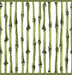 bamboo seamless vertical pattern on white vector image