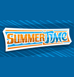 Banner for summer time vector