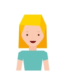 blonde girl icon vector image