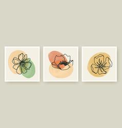 botanical wall art posters templates set vector image