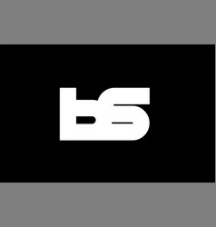 Bs b s black white bold joint letter logo vector