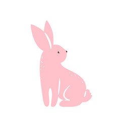 bunny pink textured rabbit vector image