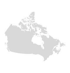 canada map state canada territory map vector image