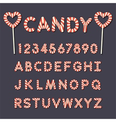 candy lollipop alphabet letters and numbers vector image
