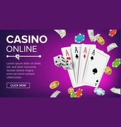 casino poker design online casino lucky vector image