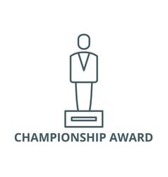 championship award line icon championship vector image
