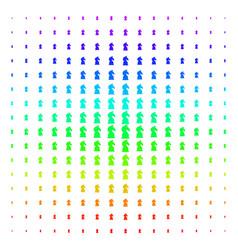 chess horse icon halftone spectrum effect vector image