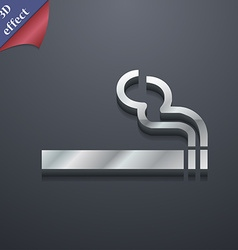 Cigarette smoke icon symbol 3D style Trendy modern vector