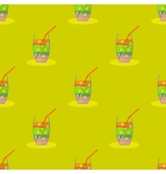 Cocktail Seamless Pattern Beverage Background vector image