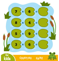 counting game for children count numbers in vector image
