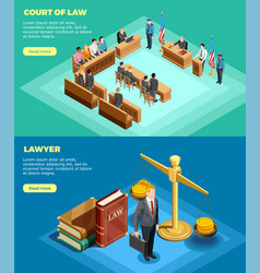 Court of law banners vector