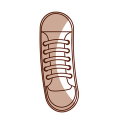 Cute shadow shoe cartoon vector