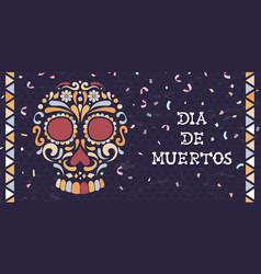 day dead mexican sugar skull web banner vector image