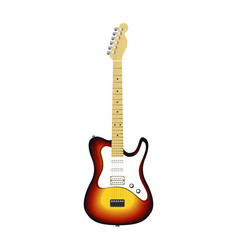 electric guitar isolated on white vector image