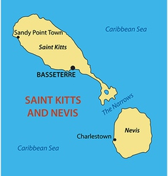 Federation of Saint Kitts and Nevis - map vector image