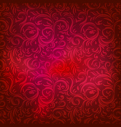 festive red pattern vector image
