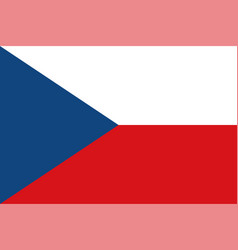 flag of the czech republic official colors vector image