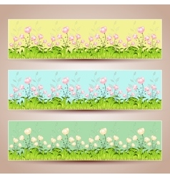 Floral banners Hand-drawn vector image