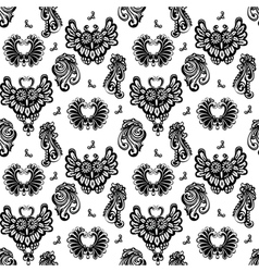 floral designs and owls vector image