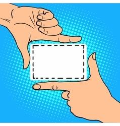 Frame hand gesture vector