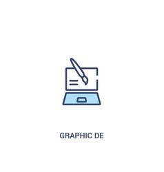 Graphic de concept 2 colored icon simple line vector