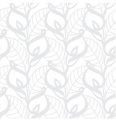 Grey calla lilies pattern vector