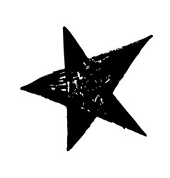 Hand drawn star doodle vector