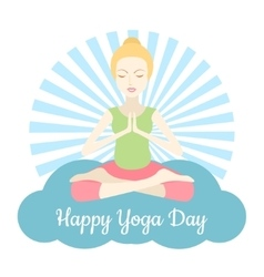 Happy Yoga Day vector image