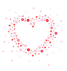 heart shape red flowers vector image
