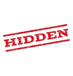 Hidden watermark stamp vector