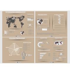 INFOGRAPHIC DEMOGRAPHICS WEBSITE BROWN vector image