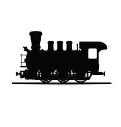 Locomotive silhouette in black vector