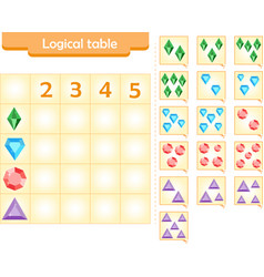 Logic puzzle game for children fill in empty cel vector