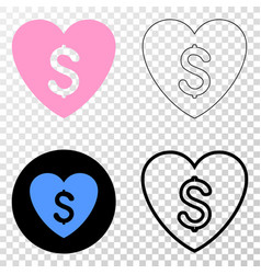 Love price eps icon with contour version vector